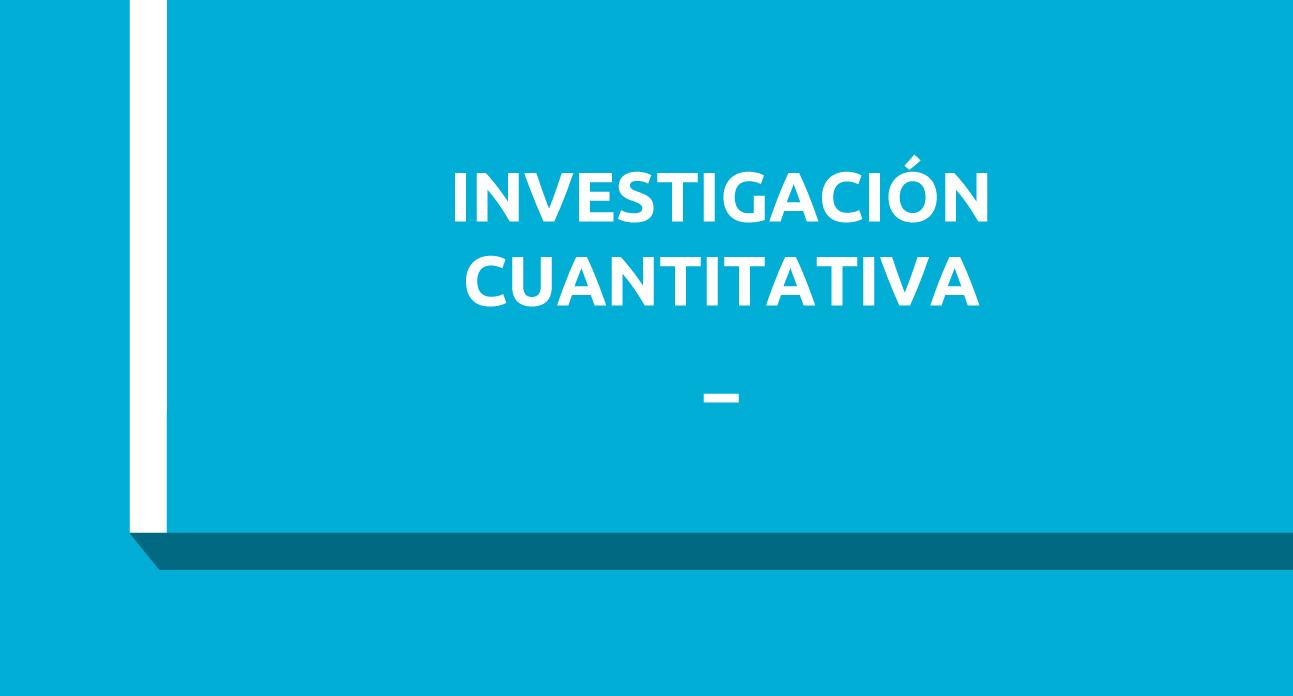 INVESTIGACIÓN CUANTITATIVA EN CIENCIAS SANITARIAS