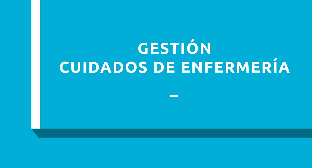 GESTIÓN DE CUIDADOS DE ENFERMERÍA