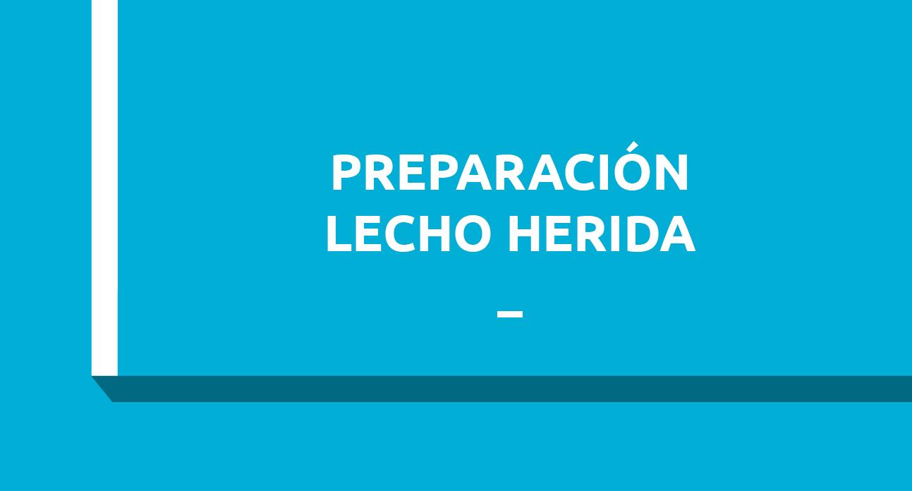 PREPARACIÓN DEL LECHO DE LA HERIDA