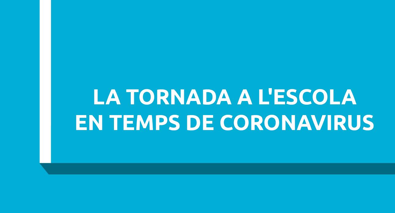 LA TORNADA A L'ESCOLA EN TEMPS DE CORONAVIRUS...