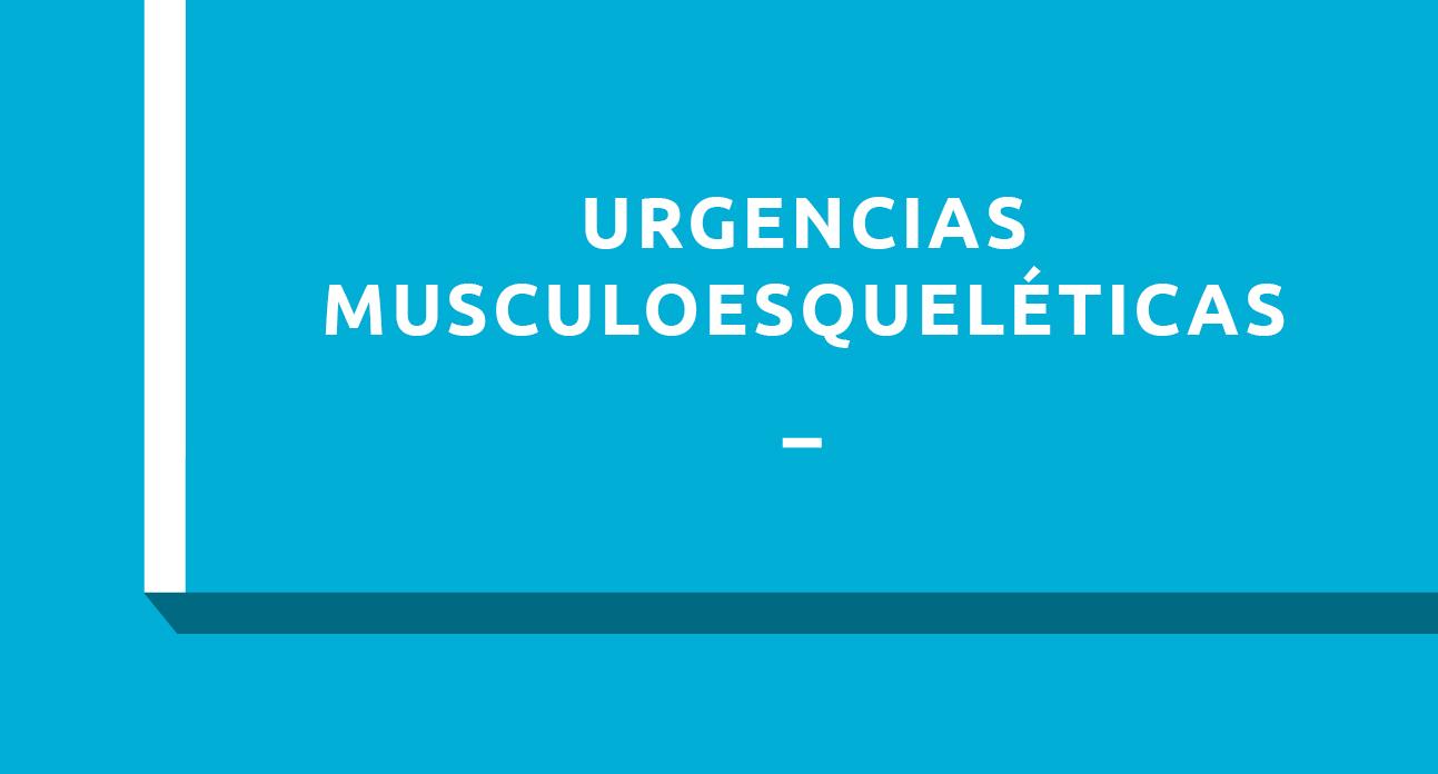 URGENCIAS MUSCULOESQUELÉTICAS - ESTUDIANTES