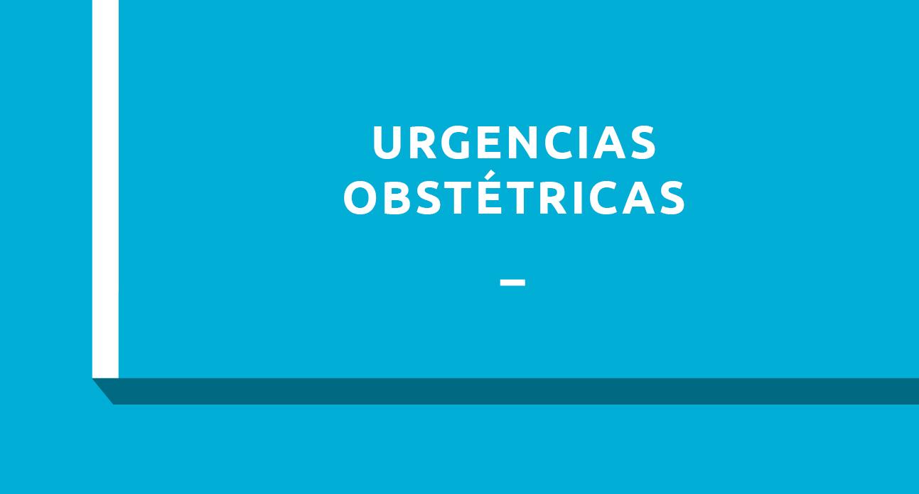 URGENCIAS OBSTETRICAS - ESTUDIANTES