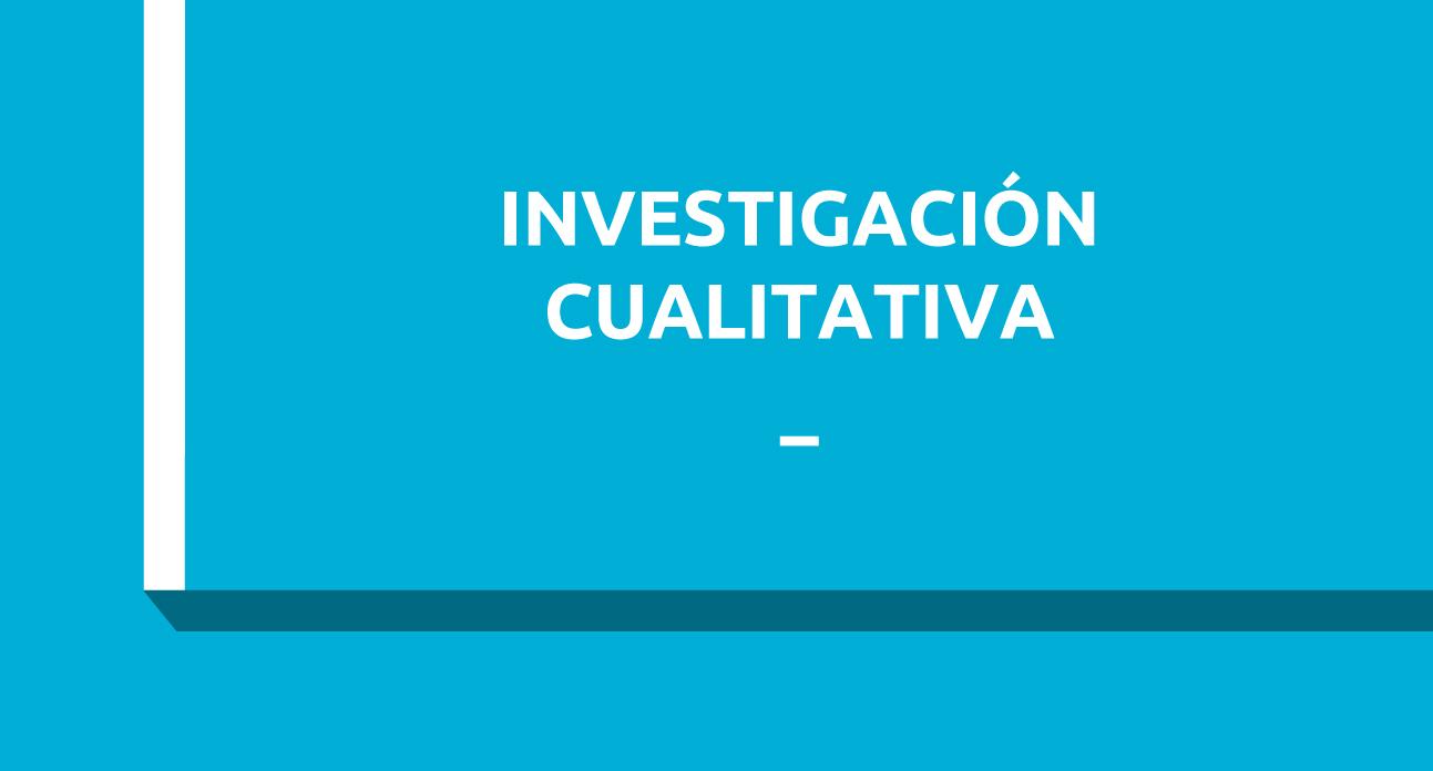 INVESTIGACIÓN CUALITATIVA Y MÉTODOS MIXTOS EN CIENCIAS SANITARIAS - ESTUDIANTES